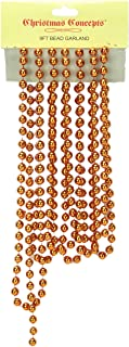 9ft Christmas Bead Chain - Christmas Bead Garlands - Christmas Decorations (Copper)