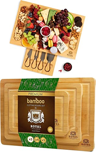 popular Cheese lowest Board with knives and Cutting Board Set by discount Royal Craft Wood online sale
