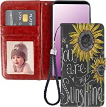 JQLOVE Samsung Galaxy S9 Plus Wallet Phone Case, You are My Sunshine Series PU Leather Flip Magnetic Clasp Multi Card Slot Stand Holder Cover Wallet Case for Samsung Galaxy S9 Plus
