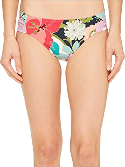 Trina Turk - Royal Botanical Side Shirred Hipster Bikini Bottom