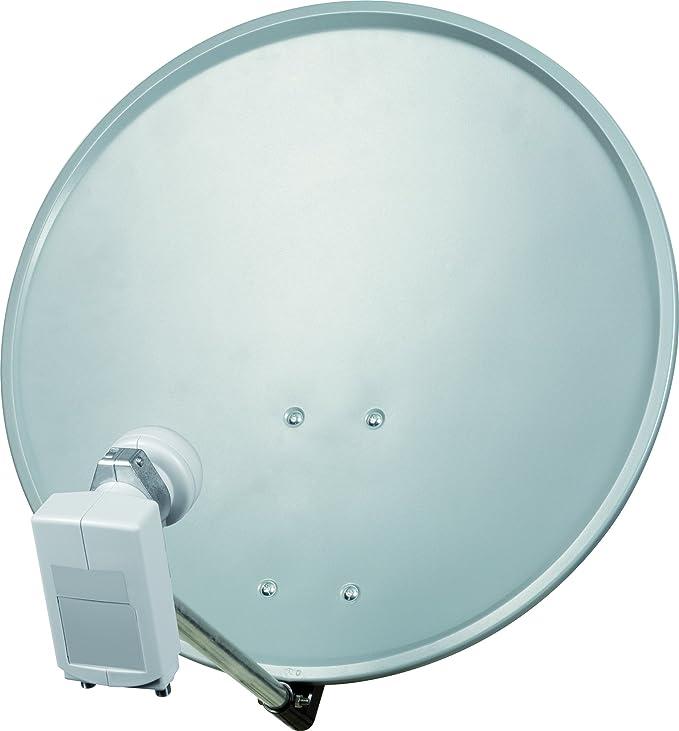Technisat Digitalsat 55 Satelliten Schüssel 55 Cm Sat Anlage Mit Wandhalterung Und Unysat Twin Lnb Zwei