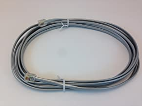 15FT TELEPHONE CABLE, SILVER SATIN WIRE, RJ-11 TO RJ-11 STANDARD 4 PIN TELEPHONE CONNECTORS