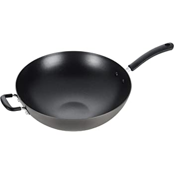 T-fal, Ultimate Hard Anodized, Nonstick 14 in. Wok, Black, , 14 Inch, Grey