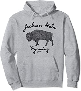 JCombs: Jackson Hole, WY, Walking Bison Hoodie
