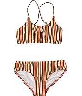 80s Geo Stripe Tankini Swimsuit Set (Little Kids/Big Kids)