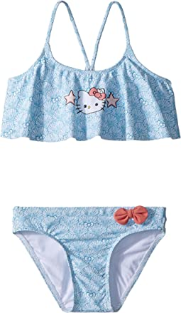 Hello Kitty® Shelly Flounce Top Swim Set (Toddler/Little Kids)