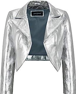 Carrie CH Hoxton Giacca da Donna Slim Fit in Pelle Scamosciata da Donna Slim Fit Bolero Style 5650