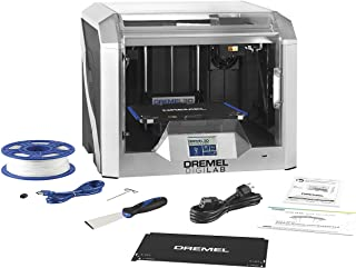 Dremel DigiLab 3D40 Flex 3D Printer with Filament, Flexible Build Plate, Fully Enclosed Housing, Automated 9-Point Leveling, PC & MAC OS, Chromebook, iPad Compatible, Network-Friendly