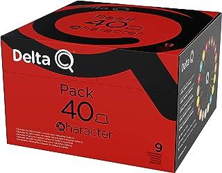 Delta Q - Pack XL Qharacter 40 Cápsulas de Café - Intensidad Alta - 40 Cápsulas