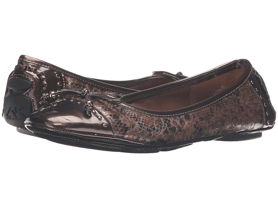 Anne Klein Buttons Flat (Bronze Multi Snake) Women