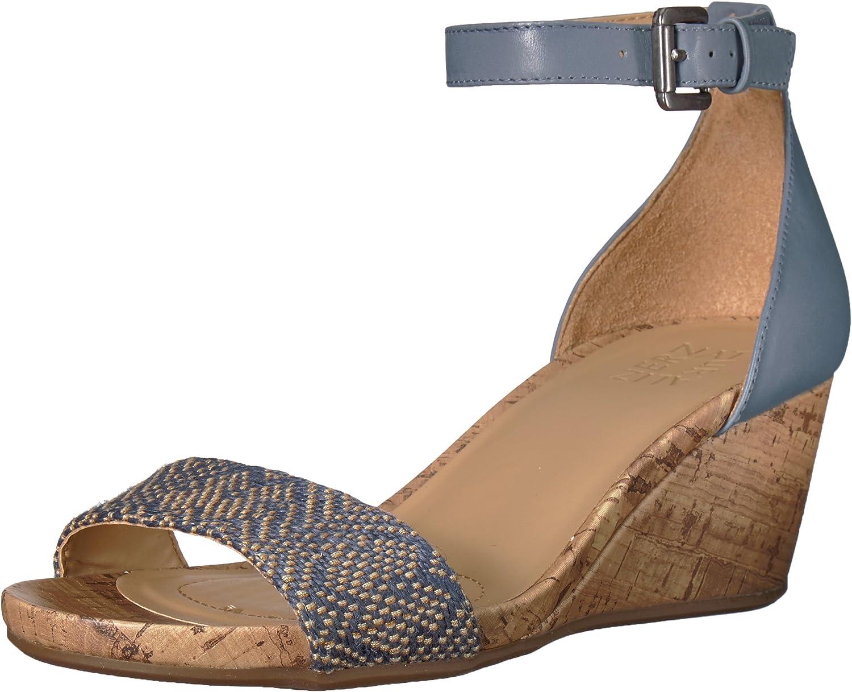 Naturalizer Woherren Woherren CAMI Wedge Sandal, Blau Multi, 9.5 W US  Rabattaktionen