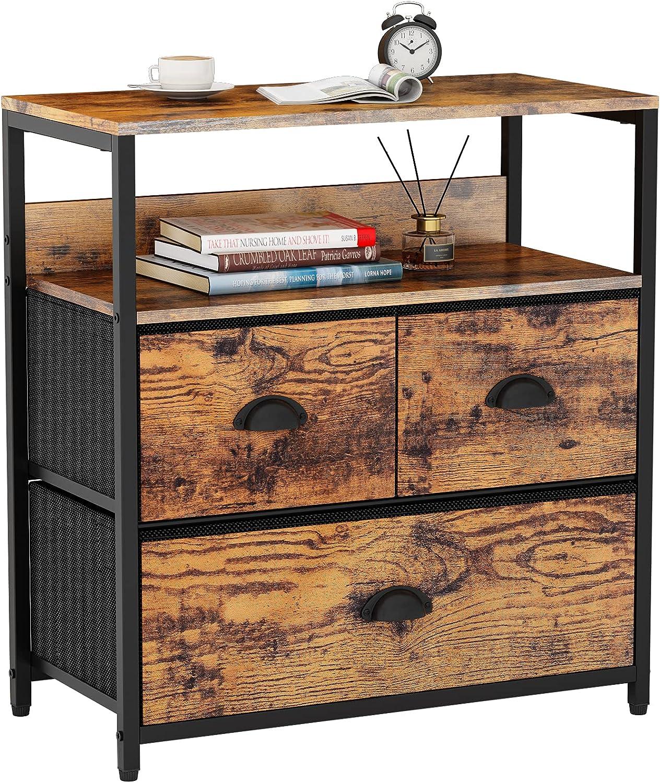 Furologee It is very popular Nightstand with 5 popular 3 Shelf Dresser Storage Drawers