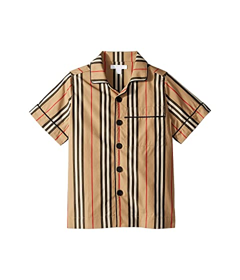 Burberry Kids Andres Icon Stripe Shirt (Little Kids/Big Kids)