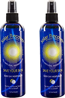 Solar Recover - After Sun Moisturizing Spray 2 Pack - (24 Ounces) - Hydrating Facial and Body Mist - 4920 Sprays of Sunburn Relief With Vitamin E and Calendula