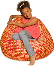 Big Comfy Bean Bag Chair: Posh Large Beanbag Chairs with Removable Cover for Kids, Teens and Adults - Polyester Cloth Puff...
