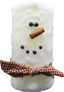 Star Hollow Candle Co Snowman Battery Timer Pillar Candle, 3