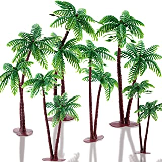 16 Pieces Green Palm Tree Cupcake Topper with Coconuts Cake Topper for Cake Decorations(5.5 inch-16 Pieces)