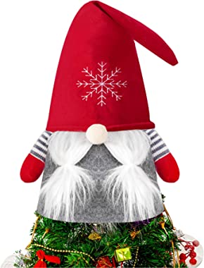 Gnome Christmas Tree Topper, 25 Inch Large Tomte Gnome Christmas Decorations Party Ornaments Christmas Winter Holiday Home De