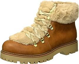 Circus by Sam Edelman Women's Kilbourn Fashion Boot, Butterscotch/Light tan Rustic Wax/Plush Faux Fur, 6 M US