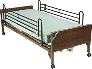 Drive Medical Semi Electric Ultra Light Plus Hospital Bed, Brown, 36