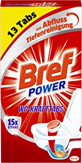 Bref Power WC Kraft Tabs, Abfluss Tiefenreinigung gegen Ablagerungen, schlechte Gerüche und Wasserstandsränder 13 Tabs