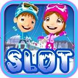 Snow Winter Sports Skiing Star Lucky Jackpot Vegas Casino Slot Machine Poker Machine Slots Fruit Machine