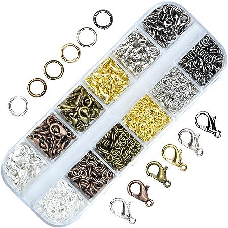 Kupink Fermoirs pour Homard Fermoirs pour Bracelet Fermoir Mousqueton Bracelet Mousqueton Collier pour Bricolage Artisanat Fabrication de Bijoux Collier