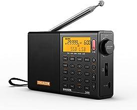 SIHUADON D-808 SSB BCLラジオ FM AM 短波 長波 エアバンドDSP RDS 高感度 ポータブルラジオ バッテリーから電気が供給されるには、世界のブロードバンドクロックラジオ、充電式バッテリーを内蔵し、自動的にシャットダ...