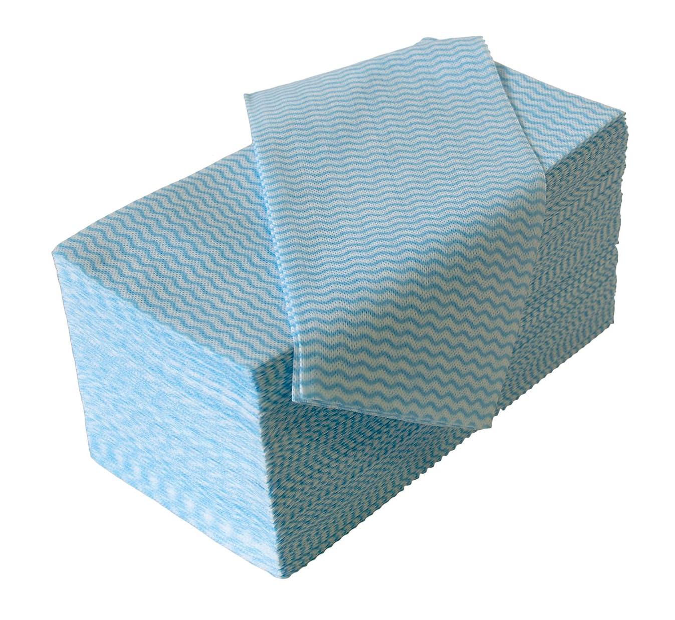 ストリックスデザイン カウンタークロス ブルー 約30㎝×61㎝ 使い切りの 不織布 ふきん 100枚入