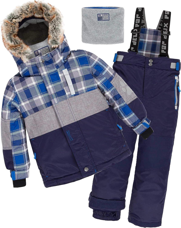 Deux par Deux Boys' 2-Piece Snowsuit Forest Runner Navy, Sizes 5-14