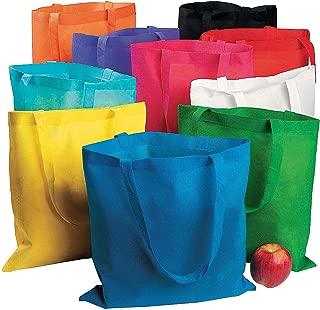Fun Express Nonwoven Polyester Tote Bag Assortment - 50 Pieces