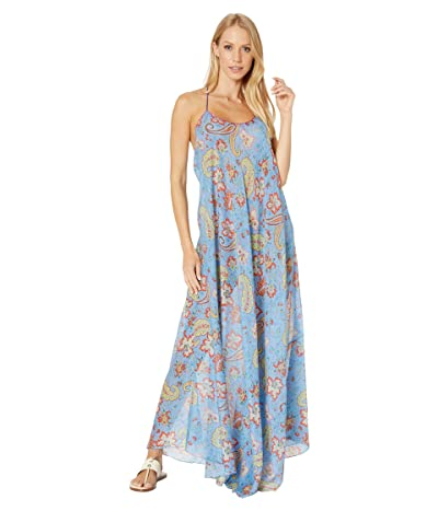 Etro Cross-Back Strappy Long Cover-Up Dress (Blue) Women
