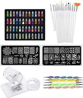 Store2508® Super Value Combo Kit of Nail Art Tools – 3d Nail Art, Nail Stamping Image Plates, Silicone Stamper, Nail Art B...