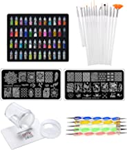 Store2508® Super Value Combo Kit of Nail Art Tools – 3d Nail Art, Nail Stamping Image Plates, Silicone Stamper, Nail Art Brush set, Nail Dotting Tool Set.