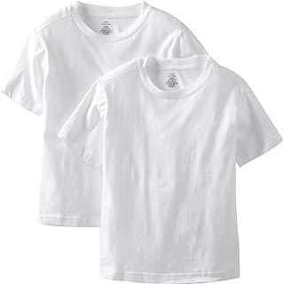 Calvin Klein Boys' Kids Crewneck Undershirt T-Shirt, 2 Pack