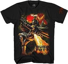 Star Wars Boba Fett Mandalorian Galaxy Bounty Hunter Adult T-Shirt