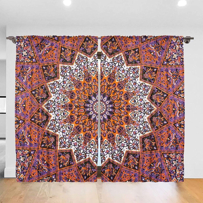 HTRHA Purple Mandala Orange Star In stock Wall Mo Tapestry Ranking TOP8 Double