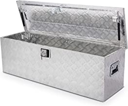"ARKSEN 49"" Aluminum Toolboxes All Purpose Underbody Lock Storage Trailer Truck Trailer Chest Box Underbed Side Handle w/Key Set"