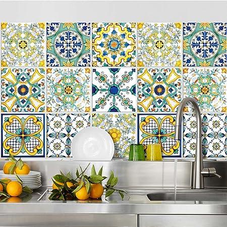 PS00146 Adesivi murali in pvc per piastrelle per bagno e cucina Stickers design