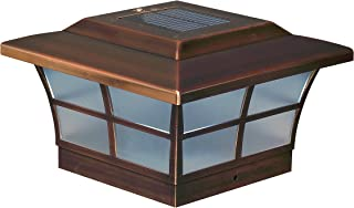 Classy Caps SL086 6X6 Copper Plated Prestige Solar Post Cap, 6