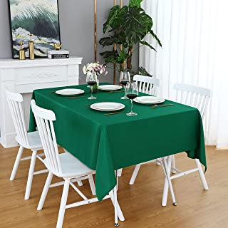 FOLINS&HOME Green Rectangle Tablecloth 60 x 120 Wrinkle Free Waterproof Polyester Table Cloths, Spillproof Heavy Duty Wash...