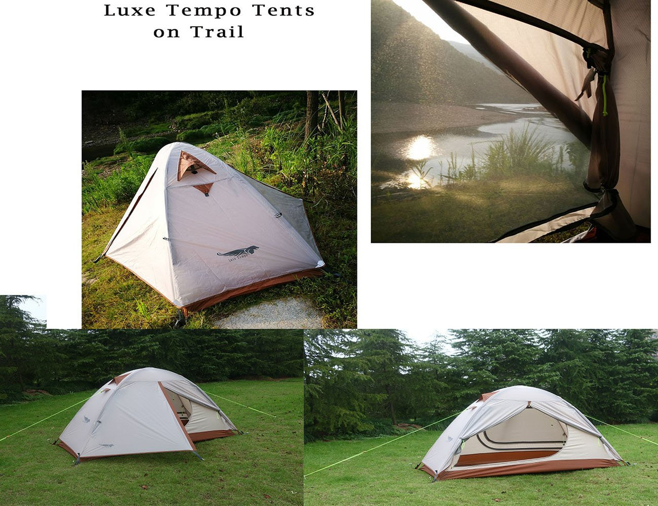 Luxe Tempo Single 1 Person Tent for Camping with Footprint