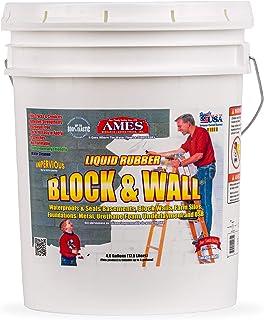 Ames Water Base High Strength Elastomeric Liquid Rubber, 5 Gallon White