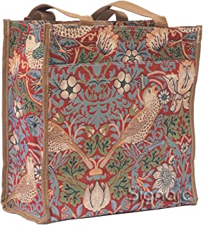 William Morris Strawberry Thief Shopping Tote Bag by Signare