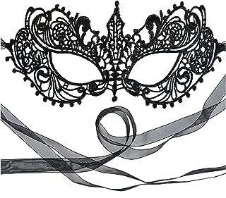 Samantha Peach Masquerade Mask - Women's Luxury Masked Ball Mask - Lace Goddess Ana Mask
