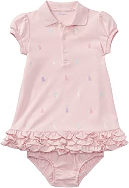 Ralph Lauren Baby Ruffled Polo Dress & Bloomer (Infant)