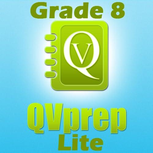 LIVRE QVprep Lite 8 ª série matemática (quantitativo) e Inglês (verbal) a capacidade prática testes de preparação para a 8 ª série oitavo vocabulário matemática questionário padrão núcleo comum