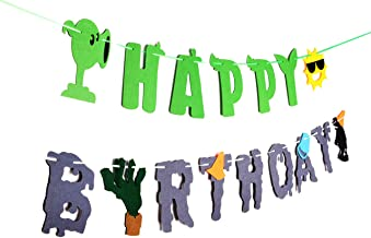RON PT Plants VS Zombies Birthday Banner - PVZ Party Decorations - Party Supplies