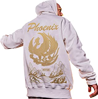 XYXIONGMAO Fashion Street Men's Japanese Hoodie Oversized Couple Sweater Golden Phoenix