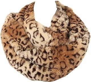 Womens Leopard Print Infinity Scarf Loop Circle Neck Warmer
